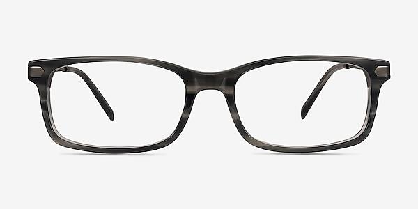Requiem Gray Striped Acetate-metal Eyeglass Frames