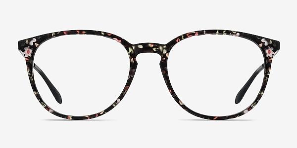 Gracious Pink Floral Plastic-metal Eyeglass Frames