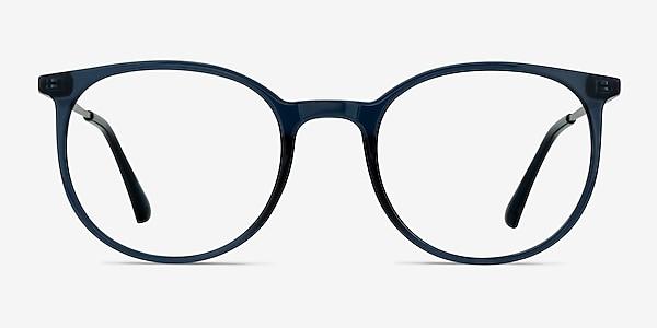 Marilou Clear Cobalt Plastic-metal Montures de lunettes de vue