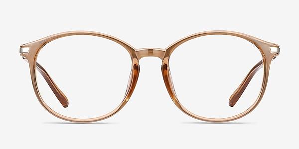 Lindsey Clear Orange Plastic-metal Eyeglass Frames