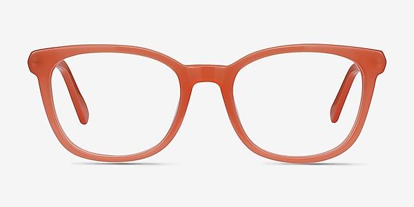 Kat Orange Acetate-metal Eyeglass Frames