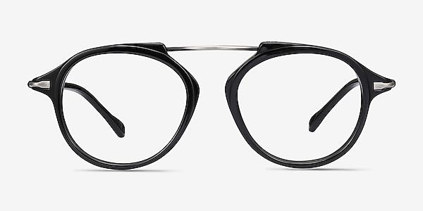 Terminal One Black Gunmetal Acetate-metal Eyeglass Frames