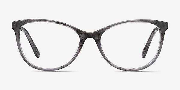 Cat's Meow Gray Floral Acetate-metal Eyeglass Frames