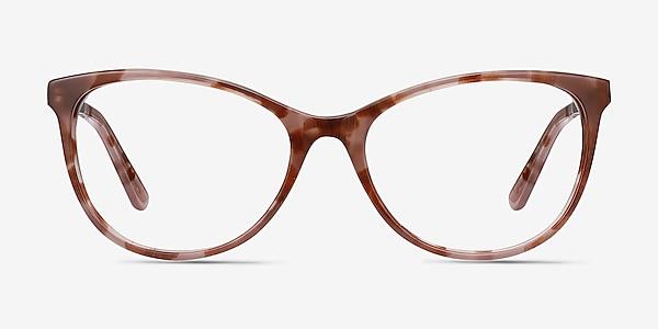 Cat's Meow Brown Floral Acetate-metal Eyeglass Frames