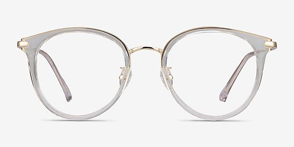 Hollie Transparence Plastic-metal Montures de lunettes de vue