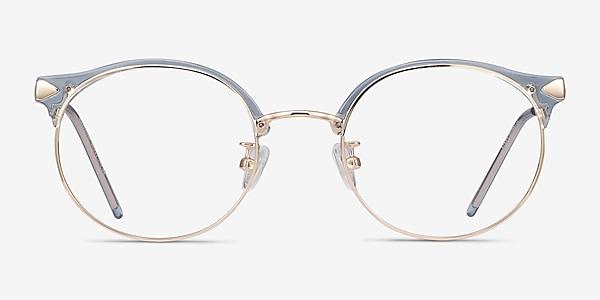 Moon River Clear Blue Plastic-metal Eyeglass Frames