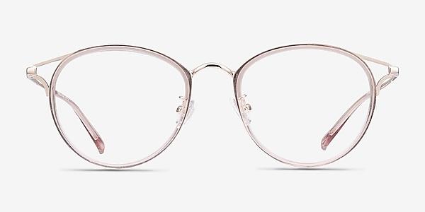 Dazzle Pink Acetate-metal Eyeglass Frames