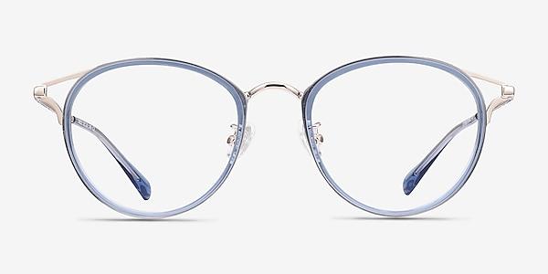 Dazzle Blue Acetate-metal Eyeglass Frames