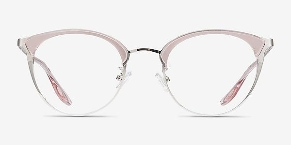 Bouquet Pink Silver Acetate-metal Montures de lunettes de vue