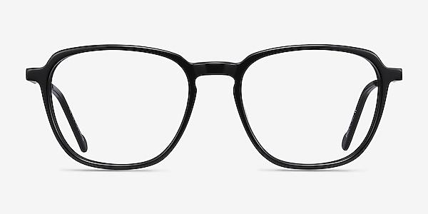 The Fan Black Acetate-metal Eyeglass Frames