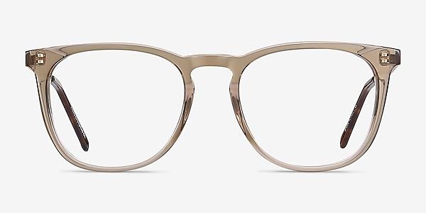 Vinyl Clear Brown Acetate-metal Eyeglass Frames
