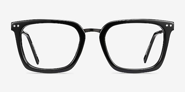 Poise Noir Acetate-metal Montures de lunettes de vue