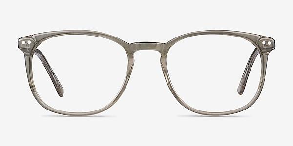Savvy Clear Gray Acetate-metal Montures de lunettes de vue