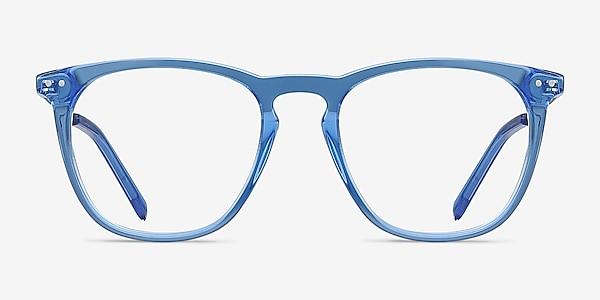 Distance Blue Acetate-metal Eyeglass Frames