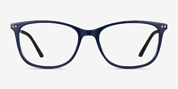 Clarity Blue Plastic-metal Eyeglass Frames