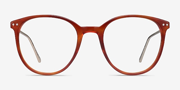 Oriana Orange Acetate-metal Montures de lunettes de vue