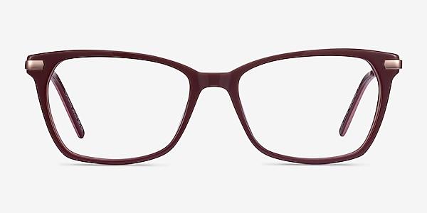 Forward Burgundy Acetate-metal Eyeglass Frames