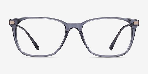 Plaza Gray Acetate-metal Eyeglass Frames