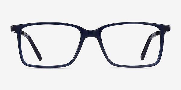 Haptic Blue Acetate-metal Eyeglass Frames