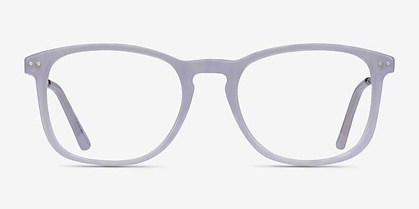 Ratio Purple Striped Acetate-metal Eyeglass Frames