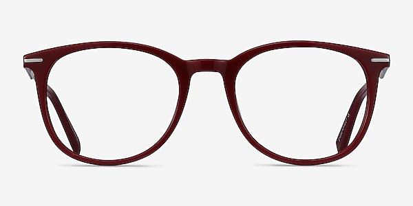 Ninah Burgundy Acetate-metal Eyeglass Frames