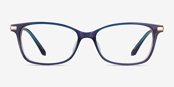 Vanda Bleu Acetate-metal Montures de lunettes de vue