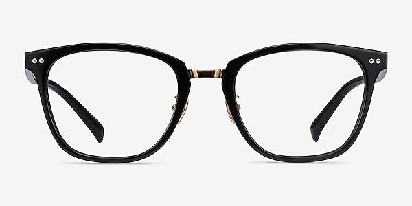 Biblio Black Acetate-metal Eyeglass Frames