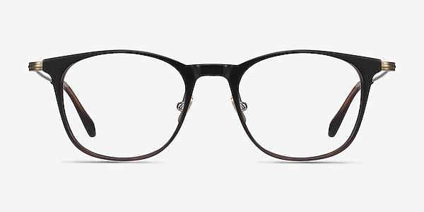 Walker Black Brown Acetate-metal Eyeglass Frames