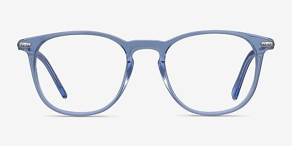 Villeneuve Blue Acetate-metal Eyeglass Frames