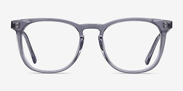 Vibes Clear Gray Acetate-metal Eyeglass Frames