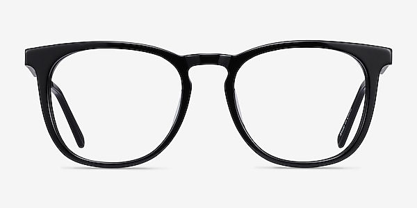 Vibes Black Acetate-metal Eyeglass Frames