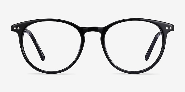 Snap Black Acetate-metal Eyeglass Frames
