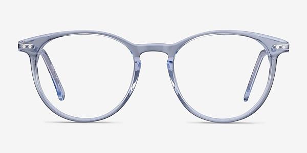 Snap Clear Blue Acetate-metal Eyeglass Frames