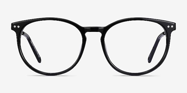 Clever Black Acetate-metal Eyeglass Frames