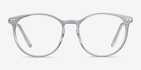 Clever Clear Acetate-metal Eyeglass Frames