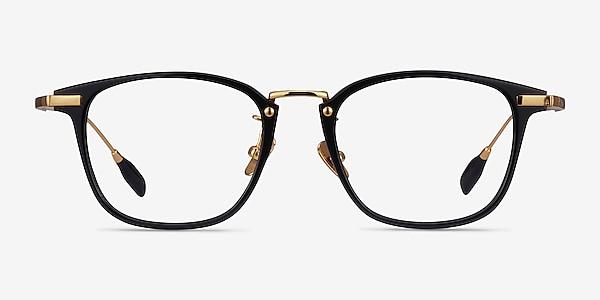 Terra Black Acetate-metal Eyeglass Frames