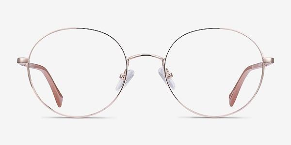Thea Rose Gold Acetate-metal Eyeglass Frames