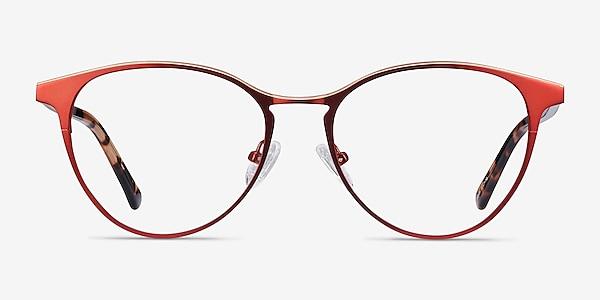 Vestige Red Acetate-metal Eyeglass Frames