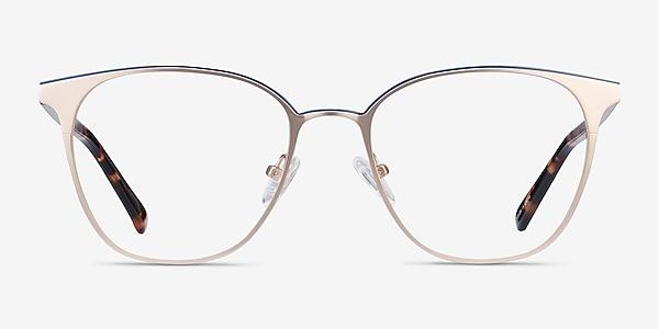 Azimut Doré Acetate-metal Montures de lunettes de vue