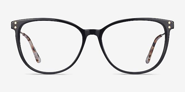 Nebulous Black Acetate-metal Eyeglass Frames