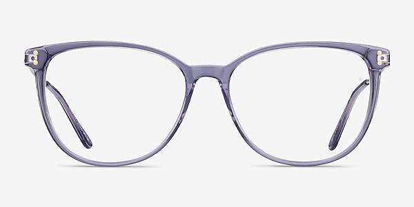 Nebulous Clear Purple Acetate-metal Montures de lunettes de vue