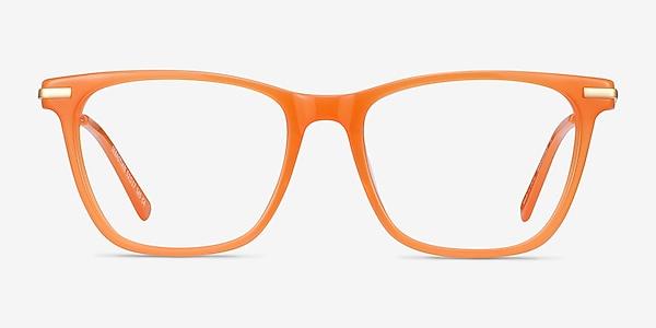 Sebastian Orange Acetate-metal Eyeglass Frames