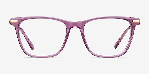 Sebastian Purple Acetate-metal Eyeglass Frames