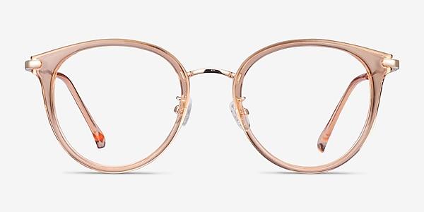 Hollie Clear Melon Plastic-metal Eyeglass Frames