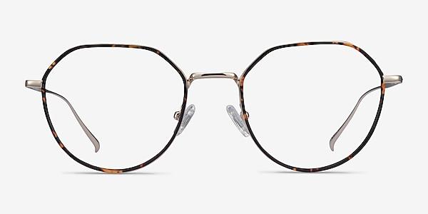 Huxley Tortoise  Golden Metal Eyeglass Frames