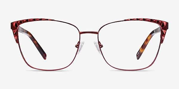 Signora Red Acetate-metal Eyeglass Frames