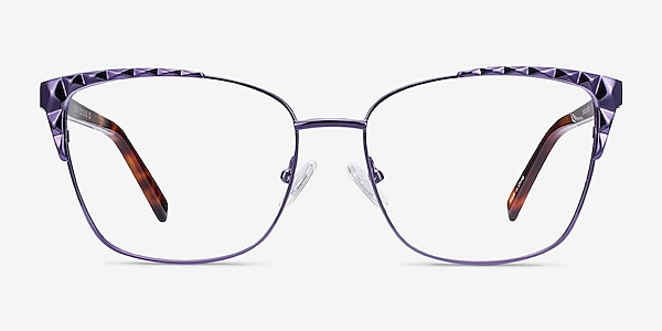 Signora Violet Acetate-metal Montures de lunettes de vue