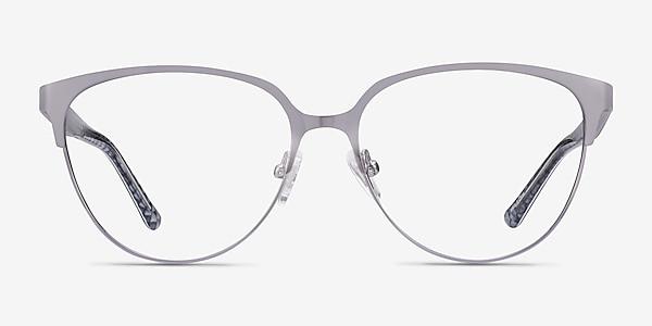 Marigold Silver & Reptile Acetate-metal Eyeglass Frames