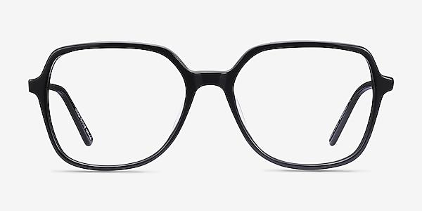 Lenny Noir Acetate-metal Montures de lunettes de vue