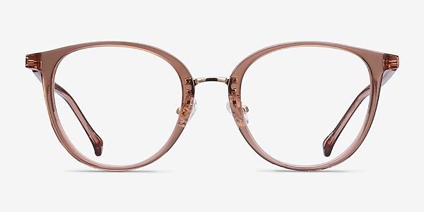 Shelby Clear Brown Acetate-metal Eyeglass Frames